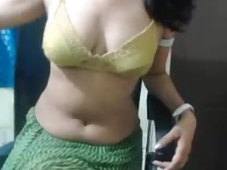 Indian girl performs hot shake dance on live camera