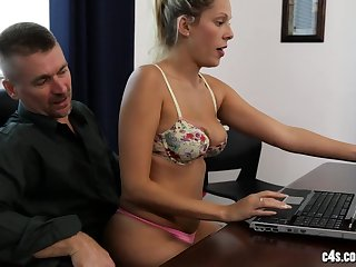 Hot raunchy sex in the office