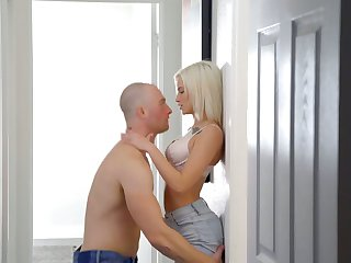 Goody-goody Kiara Cole is having passionate sex with her bald headed boyfriend
