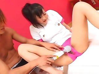 Horny asian Misake Adores gets her pussy part4