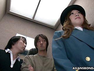 Libidinous Asian babe Aimi Ichijo gets her closeup pussy finger fucked