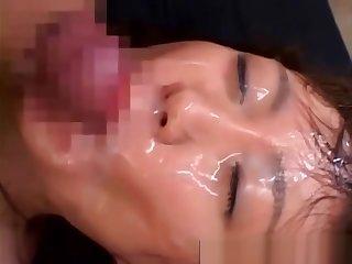 Bukkake asian fuck and facial