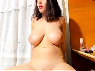 Bigboob brunette plays toys and orgasm live sex webcam