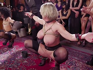 Wild busty whore Dee Williams is ready for bondage and brutal fuck