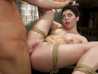 tied and horny Keira Croft gets her pussy pleased by horny a guy