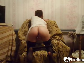 Armchair is the most comfy for some fingering
