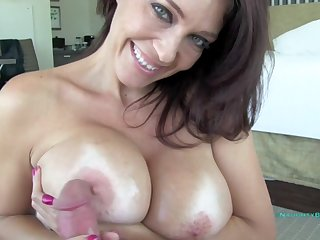 Busty MILF Charlee Chase gives amazing POV titjob for cum