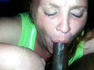 White bitch swallow my nut again