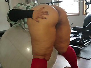 Thick Latina loves to be touched by older black man.