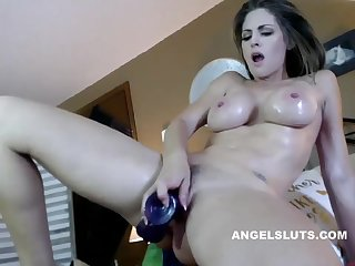 Big Tits Milf Stuffs Her Pussy And Squirts On Camera