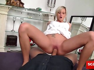cute blonde ass creampied