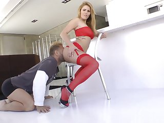lad in sexy red lingerie Hanna Montada fucking Nacho Vidal