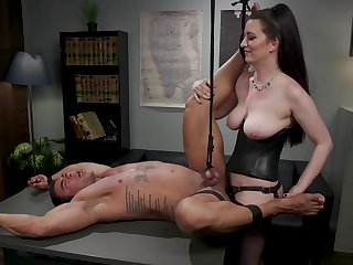 Cherry Torn butt fucked colleague at work in mind blowing femdom