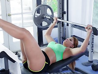 Mercedes Carrera gets her wet cunt eaten and pounded at the gym