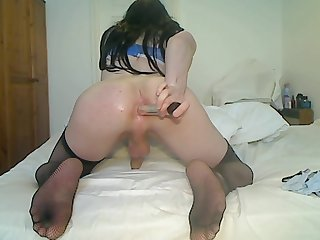 Candice Coles dildos Her anal With dildo