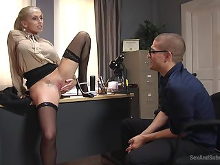 Christie Stevens gets her cunt licked and fucked by her horny friend