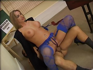 Naughty milf gets laid in a crazy hardcore role play