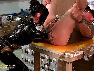 Submissive carpenter gets properly teased in hard way by Carmen Rivera