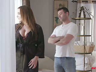 Curvaceous French babe Natasha Nice gets oiled up and fucked hard