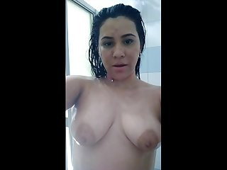 Venezuelan Mommy Awesome Show Having Shower