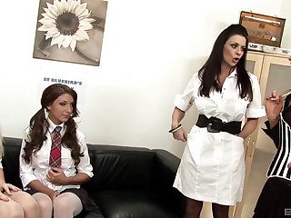 Linsey Mckenzie and Kelly Greene in an amazing lesbian foursome