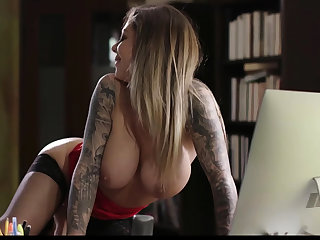 Jade Baker caught her Lady Boss Karma masturbating