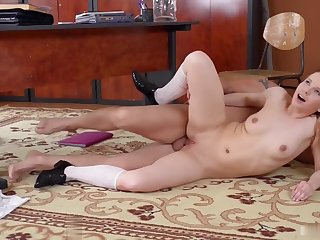 Naughty schoolgirl Olivia Grace goes to her favorite teacher to ask for som