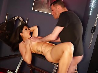 Amateur tied up slut loves to be used as a sex slave and eats cum