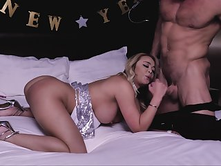 Stripper fucks busty step mom on her birthday after the party ends