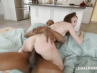 Lily Glee is having casual sex with a black hunk and one of his best friends