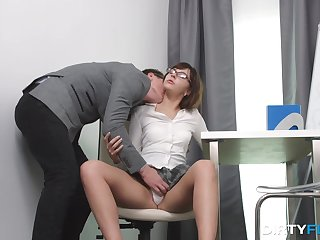 Goody-goody student Lizzie gets intimate with her strict tutor