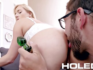 Voluptuous babe Kate England is toying anal hole before crazy sex fun
