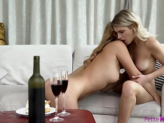 Lesbians are keen to touch and scissor after a few drinks