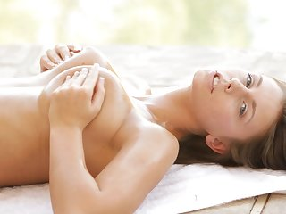 Closeup video of stunning Whitney Westgate pleasuring her slit